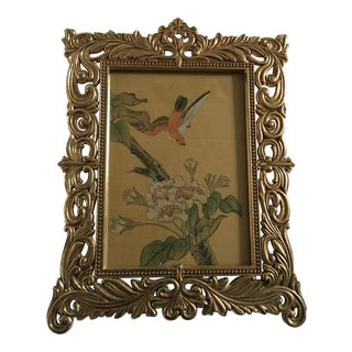 Oriental Art in Brass Frame