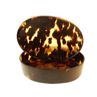 Oval Tortoise Shell Box