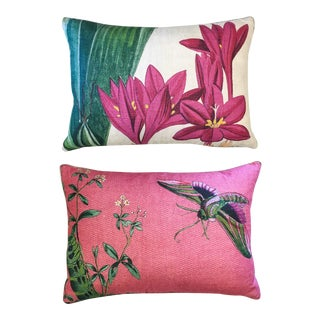 Design Legacy Printed Linen Pillows, a Pair