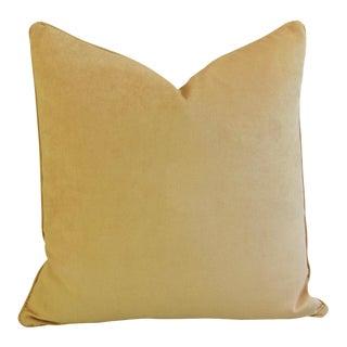 Ultra Soft Golden Velvet Feather Pillow
