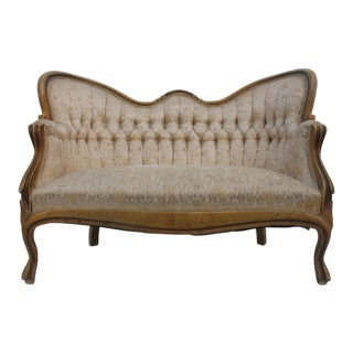 French Antique Carved Loveseat