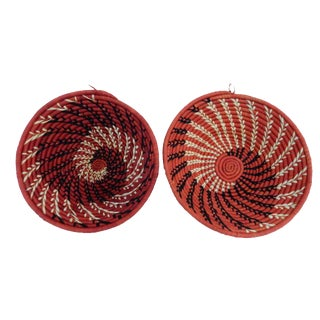 Spiral Handwoven Burundi Baskets - Set of 2