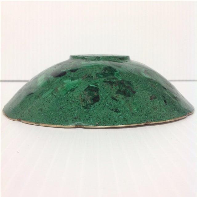Round Polished Genuine Malachite & Bronze Bowl - Image 4 of 5