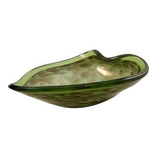 Mid-Century Green Murano Bowl