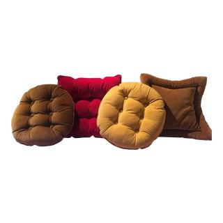 Petite Mid-Century Velvet Pillows- Set of 4