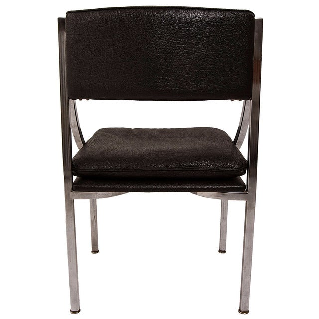 "Image of Mid Century ""Swooping"" Chrome Accent/Desk Chair"