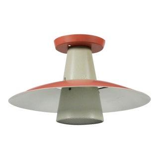 Gerald Thurston for Lightolier Perforated Cone Pendant Light