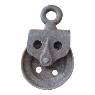 Primitive Antique Cast Iron Pulley