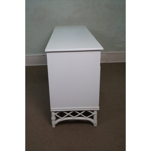 Image of Ficks Reed Painted Rattan Bamboo Long Dresser