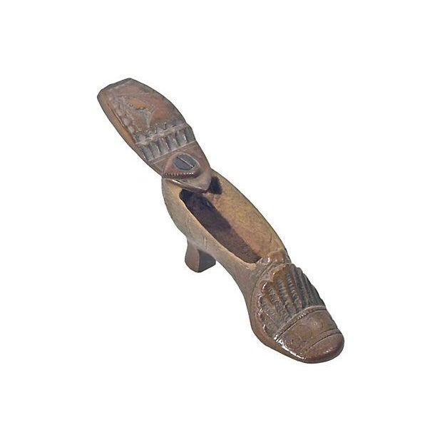 Antique French Carved Wooden Shoe Box - Image 2 of 3
