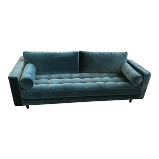 Pacific Teal Velvet Sofa