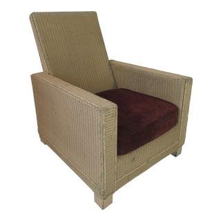 Vintage 1930s Wicker Club Chair