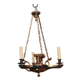 19th century Empire 3 arm chandelier