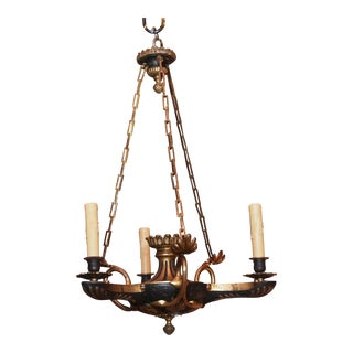 19th century Empire 3 arm chandelier