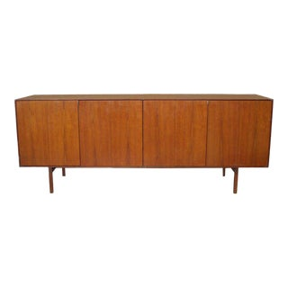 Four-door Teak Credenza With Adjustable Shelves by Florence Knoll