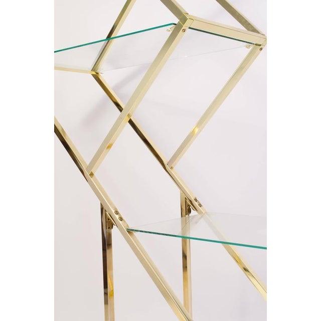 Brass Diamond Sculptural Etagere - Image 3 of 4