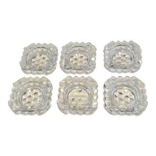 Individual Glass Ashtrays - Set of 6