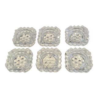 Individual Glass Ashtrays - Set of 6