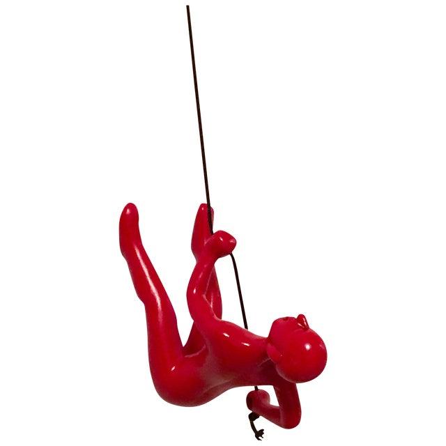 Image of Climbing Man Red New Design / Bigger / Heavier