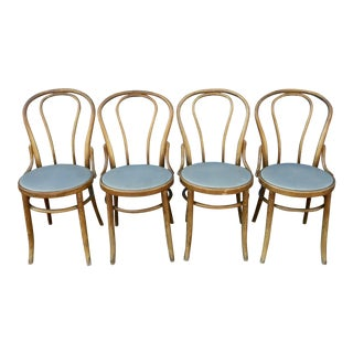 Bentwood Cafe-Style Dining Chairs - Set of 4