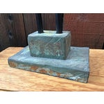Image of Antique Style Banker's Desk Lamp With Slate Base