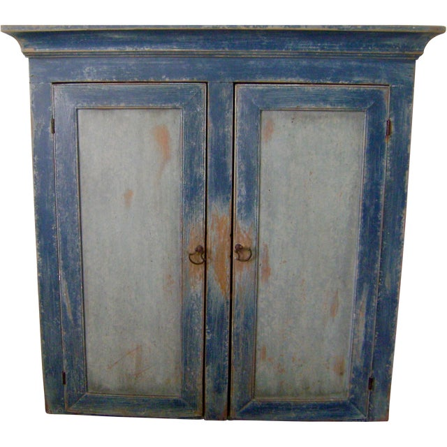 Antique Handmade Pine Hanging Cabinet - Image 1 of 9