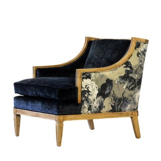 "Velvet Upholstered ""Coco"" Club Chair"