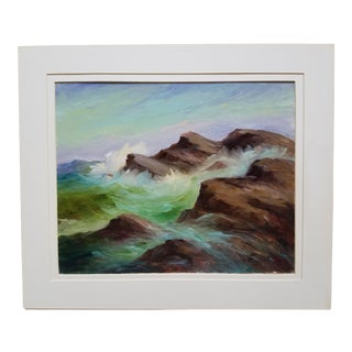 """Mary L. Massie """"Seaside"""" Oil Painting"""