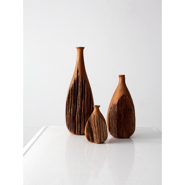 Mid-Century Live Edge Vase - Set of 3 - Image 5 of 9