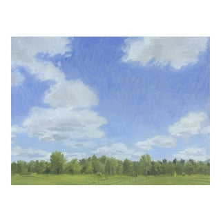 Cumulus Clouds in New Hampshire Painting