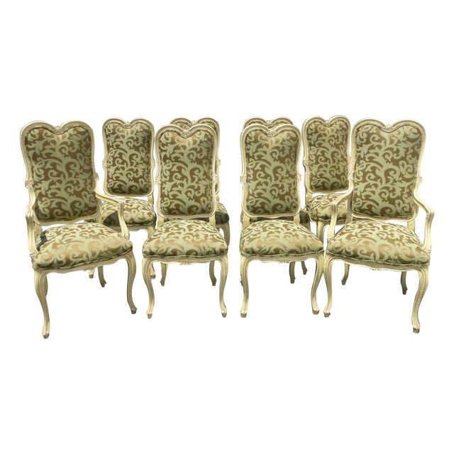 Karges Louis XV Style Dining Chairs - Set of 8 - Image 1 of 11