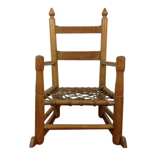 Vintage Carved Oak Rocking Chair