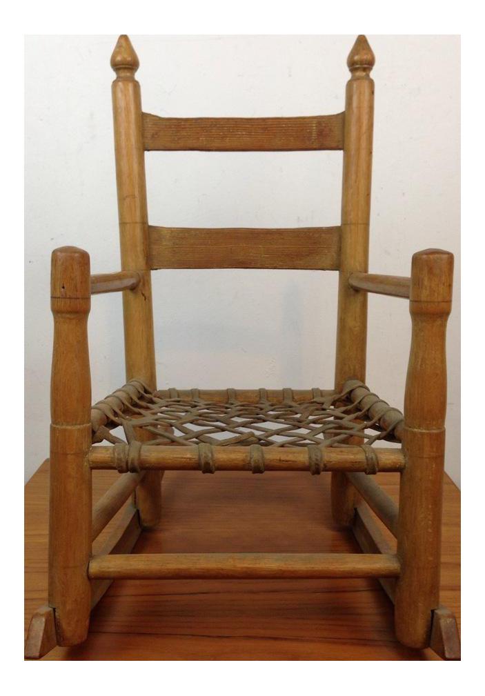 Vintage Carved Oak Rocking Chair