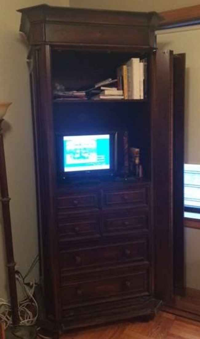 entertainment media center armoire chairish