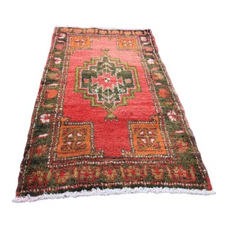 "Vintage Turkish Oushak Tribal Rug- 1'9"" x 3'1"""