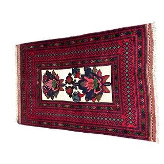 "Floral Persian Rug - 3' 1"" x 4' 8"""