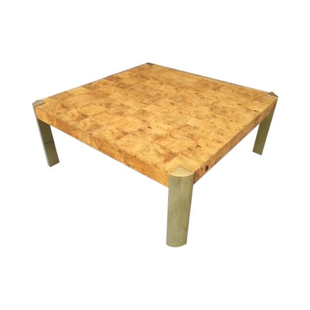 Milo Baughman Burlwood Coffee Table Chairish