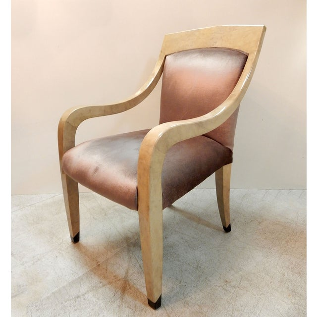 Donghia Goatskin Arm Chairs - Pair - Image 3 of 7