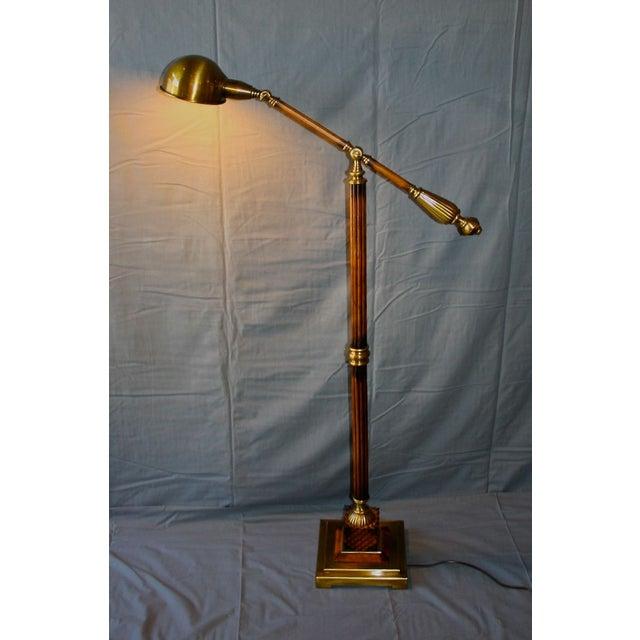 Wood & Bronze Floor Lamp - Image 2 of 6
