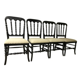 Noir Dining Chairs - Set of Four