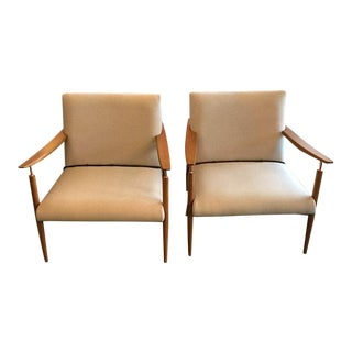 Mid-Century Inspired Lounge Chairs - A Pair