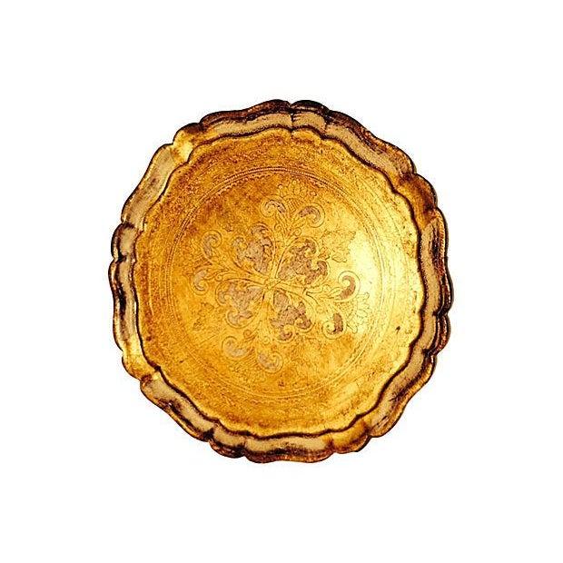 Image of Vintage Venetian Gilt & Ivory Tray