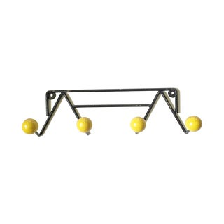 Mategot Patere Vintage Black & Yellow Coat Rack