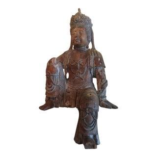 Carved Wood Bodhisattva