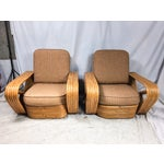 Image of Paul Frankl for Kane Kraft Rattan Chairs - A Pair