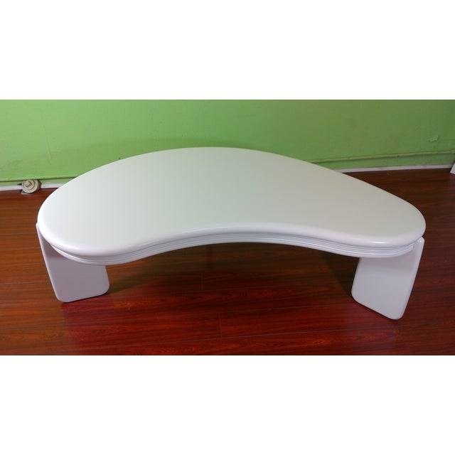 Kidney Shaped Coffee Table - Image 2 of 11