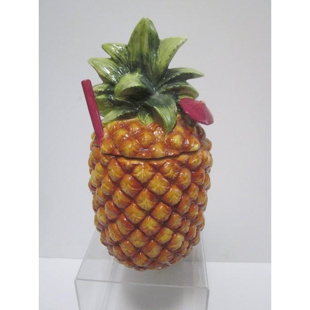 Image of Large Pineapple Tiki Cookie Jar