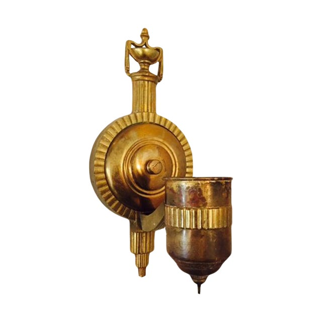 Vintage Brass Art Deco Wall Sconce Chairish