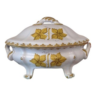 Italian Hand Painted Covered Tureen