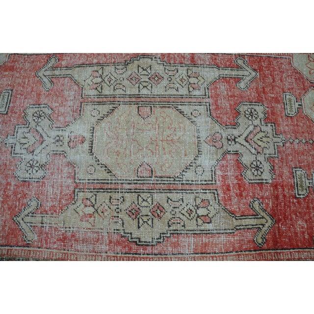Bohemian Floor Wool Rug - 3′6″ × 7′4″ - Image 5 of 6